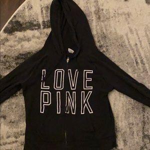 Pink sweatshirt zip up